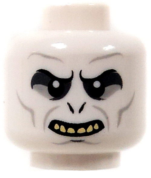 Harry Potter LEGO Minifigure Parts White Sneering & Yellow Teeth Minifigure Head [Loose]