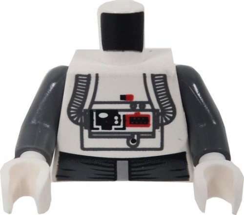 LEGO Star Wars Minifigure Parts White At-At Driver with Air Hoses, Gray Belt & Sleeves Loose Torso [Loose]