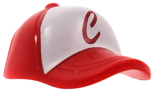 LEGO Minifigure Parts Red Baseball Cap with Red 'C' on White Field [Loose]
