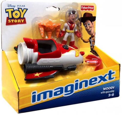 Fisher Price Toy Story Imaginext Woody with Spaceship Exclusive Figure Set