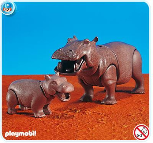 Playmobil Zoo African Wildlife Hippo with Calf Set #7220