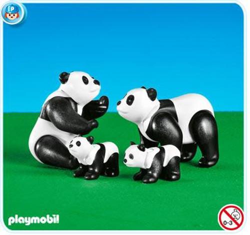 Playmobil Zoo African Wildlife Panda Family Set #7896