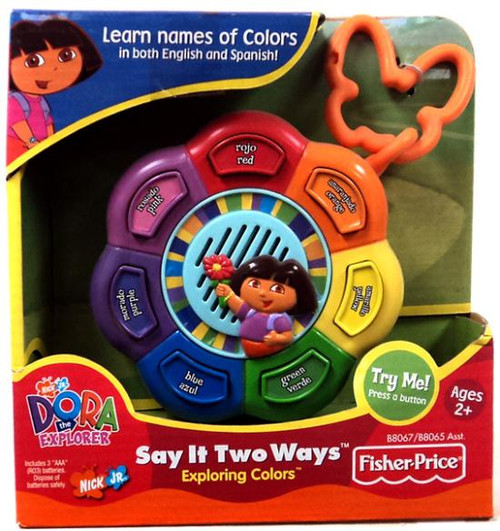 Fisher Price Dora the Explorer Say it Two Ways Exploring Colors Electronic Toy