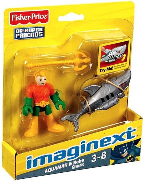 Fisher Price DC Super Friends Imaginext Aquaman & Robo Shark 3-Inch Mini Figure