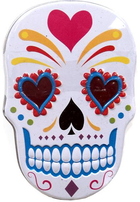 Sugar Skull Candy Tin [White]