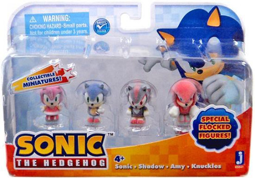 Sonic the Hedgehog 1-Inch Mini Figure 4-Pack [Flocked]
