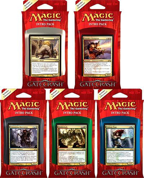 MtG Gatecrash Set of 5 Intro Packs [Sealed Decks]