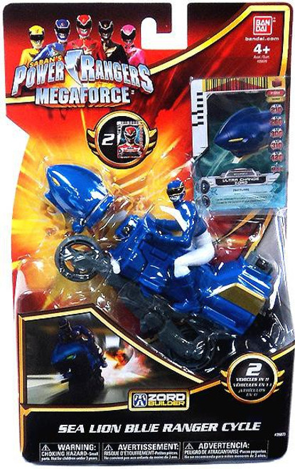 Power Rangers Megaforce Zord Builder Seal Lion Blue Ranger Cycle Action Figure