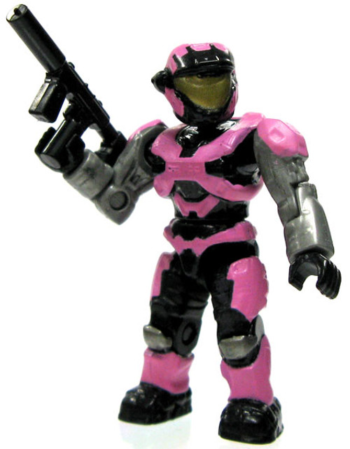 Mega Bloks Halo Loose Female Air Assault Spartan 2-Inch Minifigure [Pink Loose]