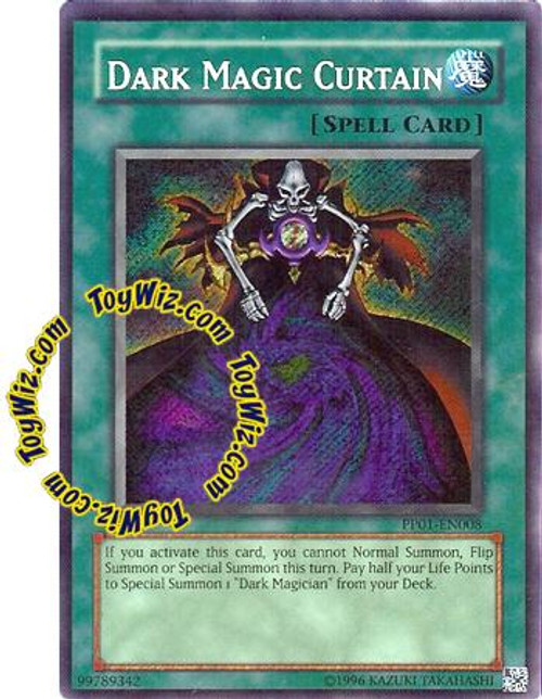 YuGiOh GX Premium Pack 1 Secret Rare Dark Magic Curtain PP01-EN008