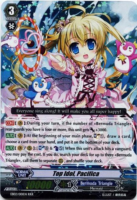 Cardfight Vanguard Banquet of Divas RRR Rare Top Idol, Pacifica EB02-001