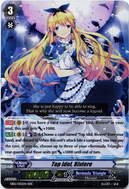 Cardfight Vanguard Banquet of Divas RRR Rare Top Idol, Riviere EB02-002