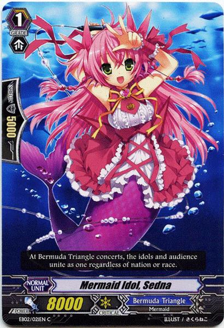 Cardfight Vanguard Banquet of Divas Common Mermaid Idol, Sedna EB02-021