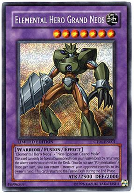YuGiOh 2007 Collector Tin Secret Rare Elemental Hero Grand Neos CT04-EN001