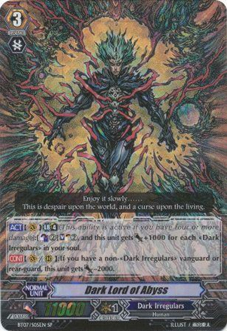 Cardfight Vanguard Rampage of the Beast King SP Rare Dark Lord of Abyss BT07-S05