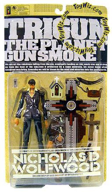 Trigun The Planet Gunsmoke Nicholas D. Wolfwood Action Figure [Battle Damaged]