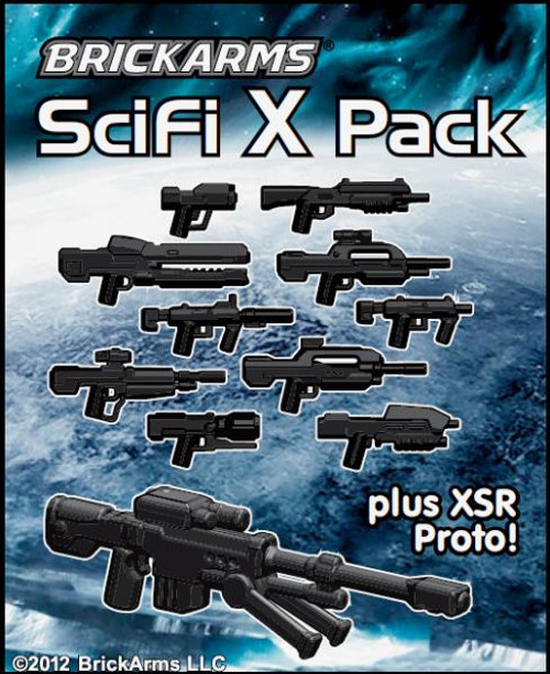 BrickArms Sci-Fi X Series 2.5-Inch Weapons Pack [Black]