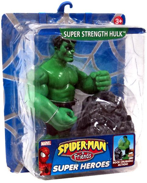 Spider-Man & Friends Super Heroes Super Strength Hulk Action Figure [Damaged Package]