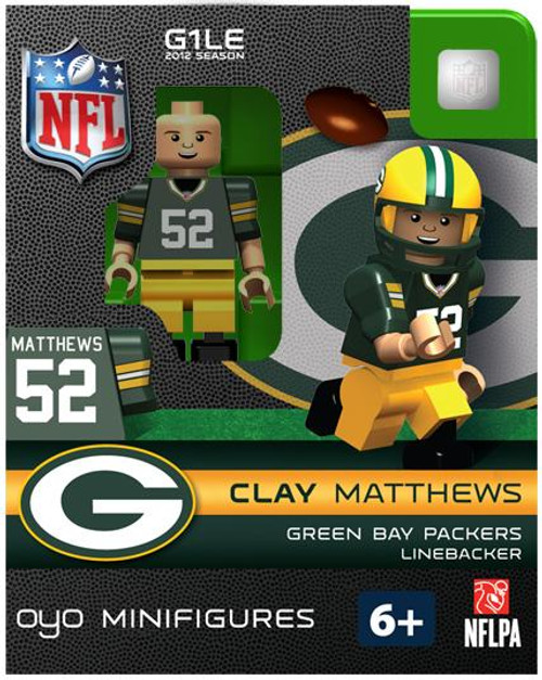 Green Bay Packers NFL Generation 1 2012 Season Clay Matthews Minifigure