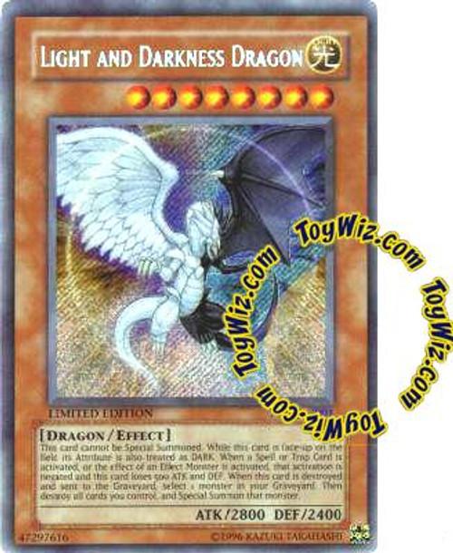 YuGiOh Shonen Jump Secret Rare Light and Darkness Dragon YG01-EN001