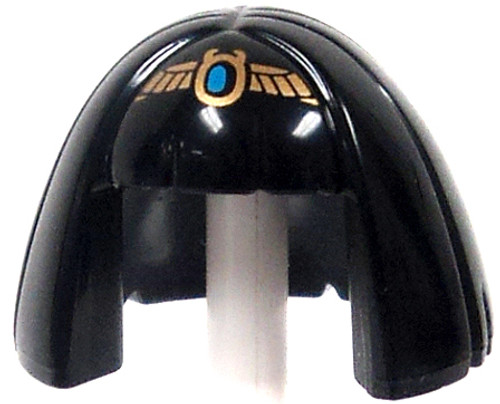 LEGO Minifigure Parts Egyptian Hair Style with Gold Scarab Penant Loose Hair [Loose]
