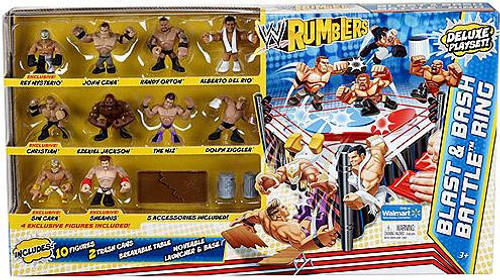 WWE Wrestling Rumblers Series 2 Blast & Bash Battle Ring Mini Figure Playset [10 Figures]