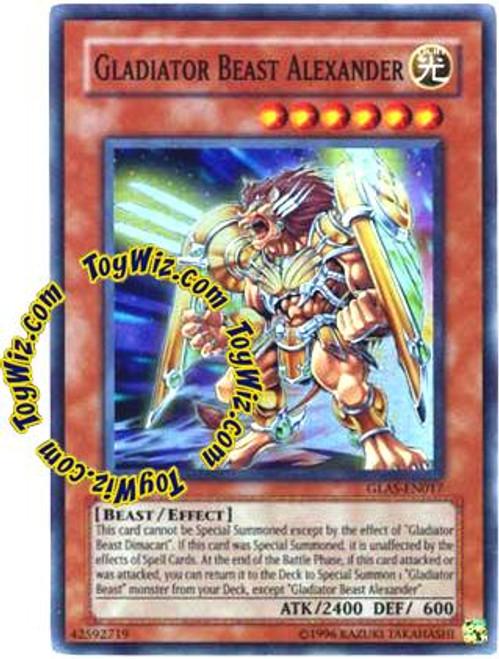 YuGiOh GX Gladiator's Assault Super Rare Gladiator Beast Alexander GLAS-EN017