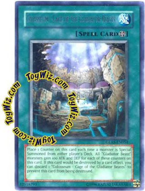 YuGiOh GX Gladiator's Assault Rare Colosseum - Cage of the Gladiator Beasts GLAS-EN054