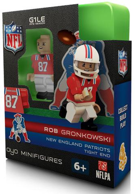 New England Patriots NFL Generation 1 2012 Season Throwback Jersey Rob Gronkowski Minifigure