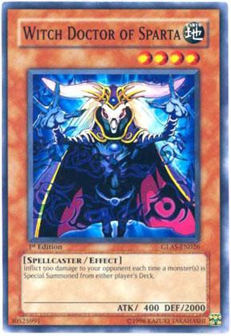 YuGiOh GX Gladiator's Assault Common Witch Doctor of Sparta GLAS-EN026