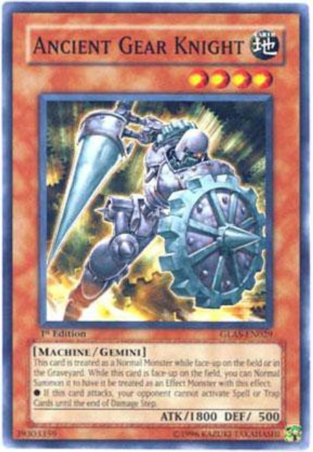 YuGiOh GX Gladiator's Assault Common Ancient Gear Knight GLAS-EN029