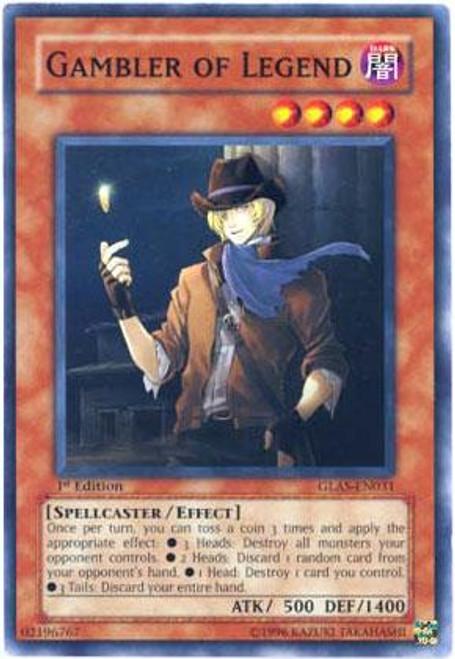 YuGiOh GX Gladiator's Assault Common Gambler of Legend GLAS-EN031