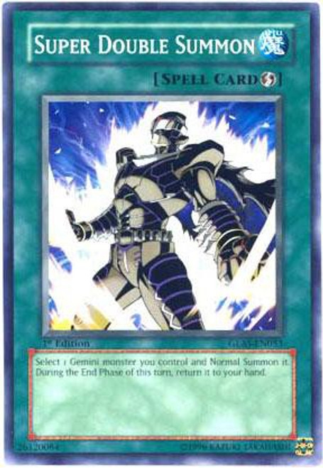 YuGiOh GX Gladiator's Assault Common Super Double Summon GLAS-EN053