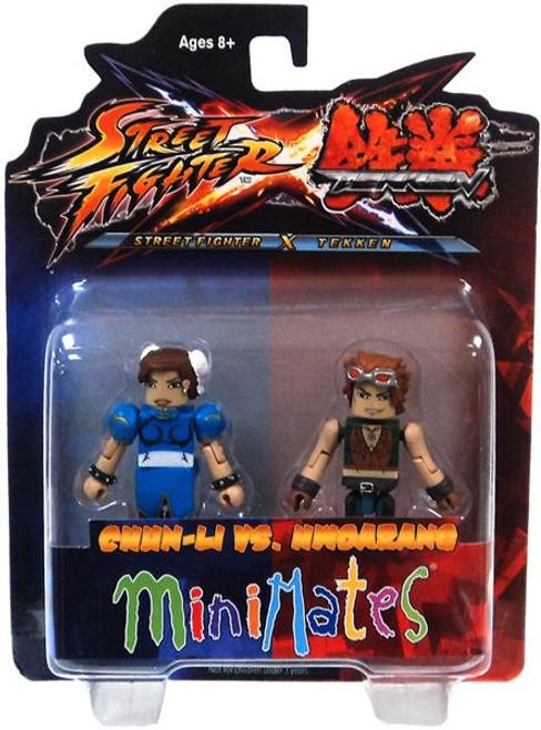 Street Fighter X Tekken Minimates Series 2 Chun-Li vs Hwoarang Minifigure 2-Pack