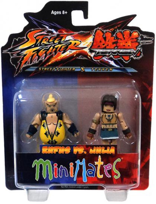 Street Fighter X Tekken Minimates Series 2 Rufus vs Julia Minifigure 2-Pack