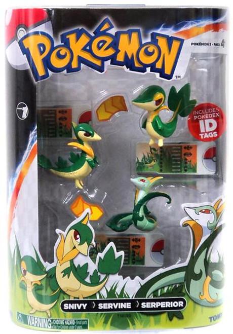 Pokemon Black & White Evolution Snivy, Servine & Serperior Figure 3-Pack