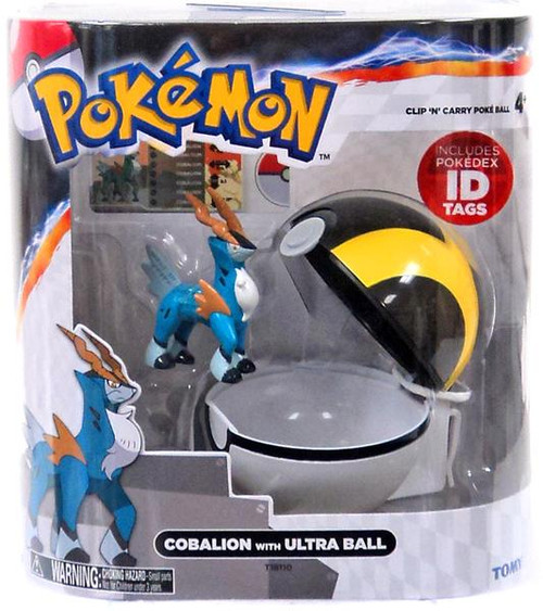 Pokemon Clip n Carry Pokeball Cobalion with Ultra Ball Figure Set