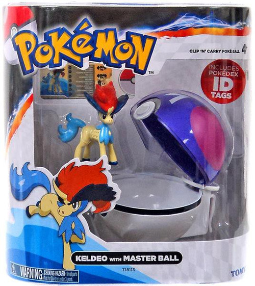 Pokemon Clip n Carry Pokeball Keldeo with Master Ball Figure Set