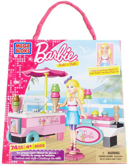 Mega Bloks Barbie Build 'n Style Ice Cream Cart Set #80212