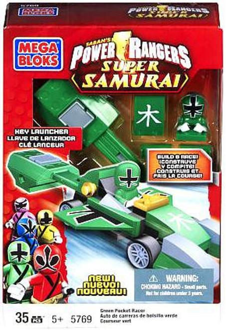 Mega Bloks Power Rangers Super Samurai Green Pocket Racer Set #5769