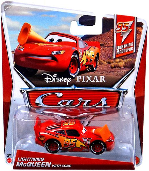 Disney Cars Series 3 Lightning McQueen with Cone Diecast Car