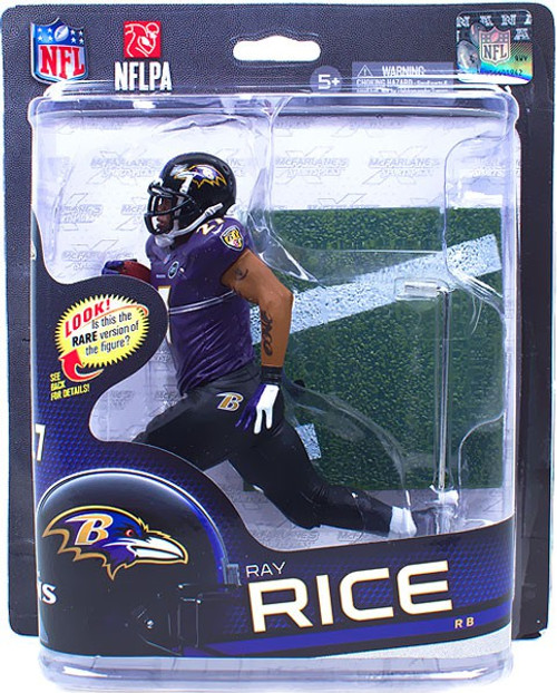 McFarlane Toys NFL Baltimore Ravens Sports Picks Series 32 Ray Rice Action Figure [Purple Jersey]
