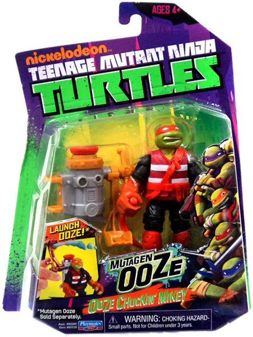 Teenage Mutant Ninja Turtles Nickelodeon Mutagen Ooze Ooze Chuckin' Mikey Action Figure