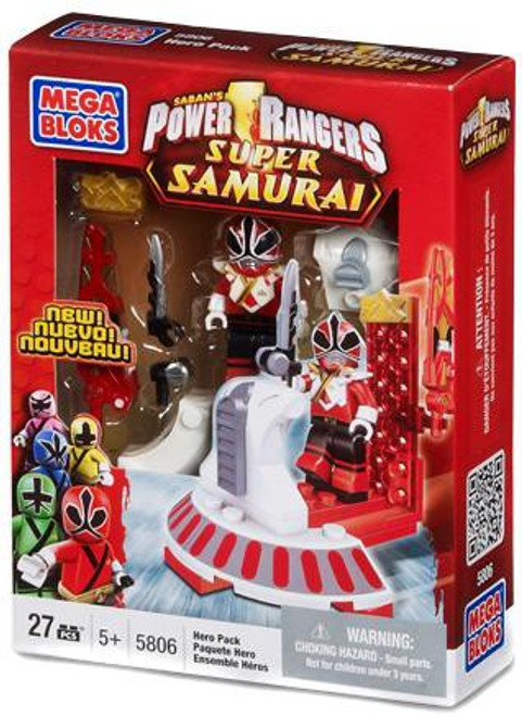Mega Bloks Power Rangers Super Samurai Red Ranger Hero Pack Set #5806