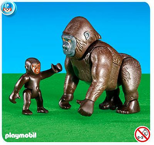Playmobil Zoo Gorilla with Baby Set #6201