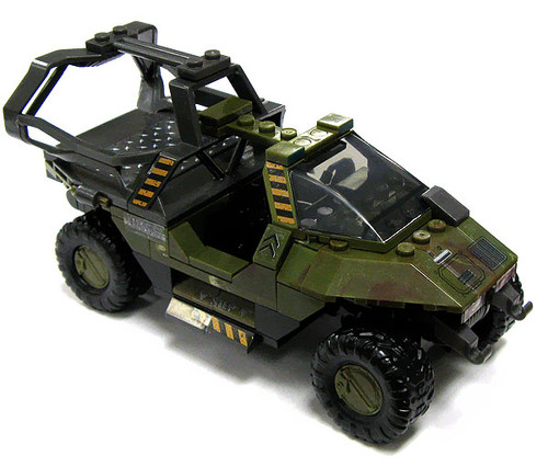 Mega Bloks Halo Loose UNSC Warthog [Transport Loose]