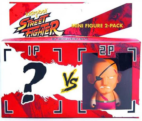 Street Fighter Sagat 3-Inch Vinyl Figure 2-Pack