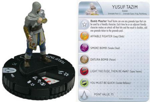 Revelations Assassin's Creed HeroClix Yusef Tazim #003