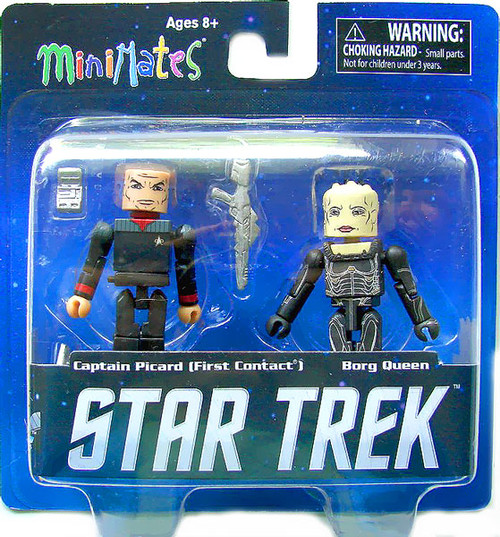 First Contact Star Trek Legacy Minimates Series 1 Captain Picard & Borg Queen Minifigure 2-Pack
