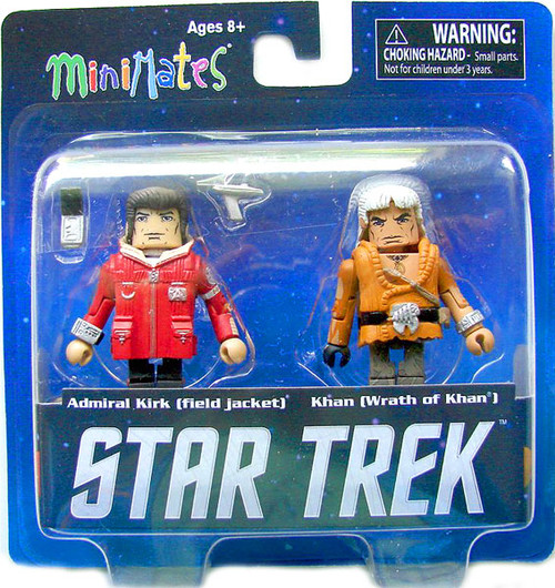 The Wrath of Khan Minimates Star Trek Legacy Series 1 Admiral Kirk [Field Jacket] and Khan Minifigure 2-Pack